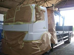 Truck during restoration